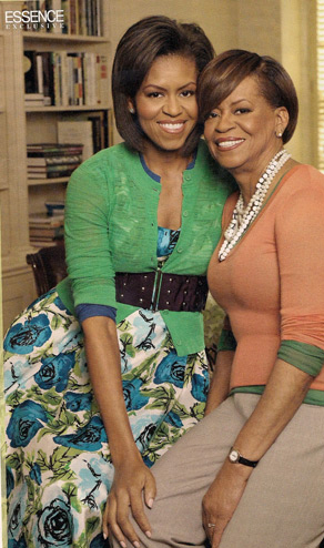 Mrs. Obama and her mother Marian Shields Robinson.